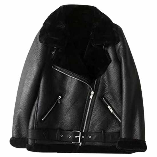 B3 Aviator Women Shearling Bomber Jacket