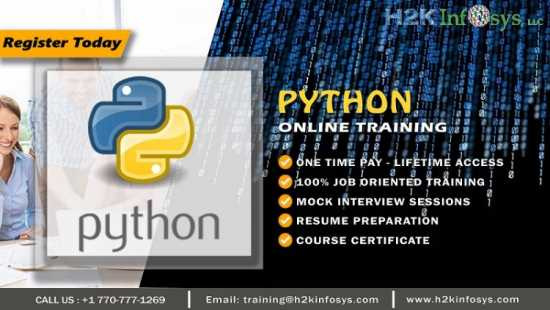 Python Online Training by Certified Experts