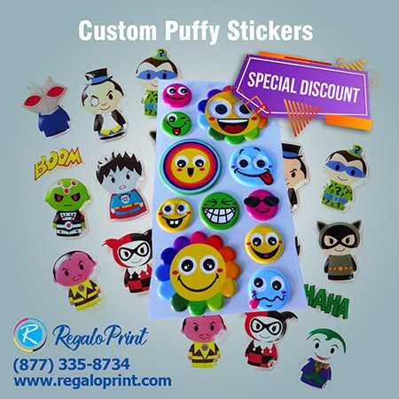 Durable and Best Printed Puffy Stickers are Here