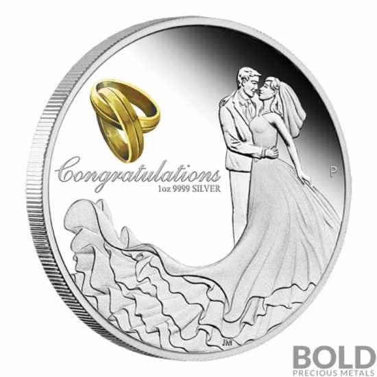 2020 Australia Wedding Gift 1 oz Silver Proof Coin