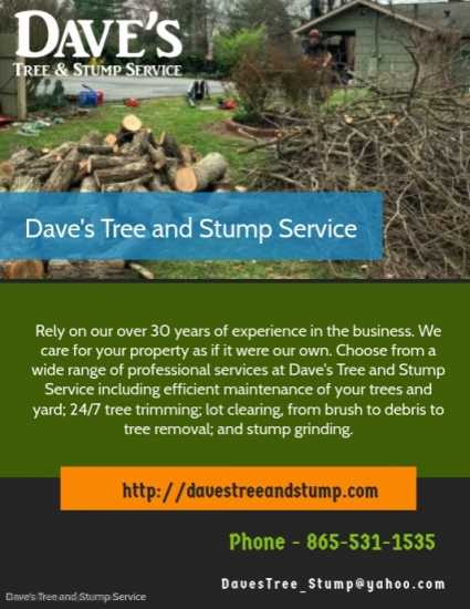 Dave's Tree and Stump Service|Tennessee