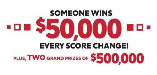 Someone Wins $50000 Every Score Change! Plus TWO G