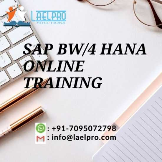 SAP BW/4 HANA FINANCE ONLINE TRAINING