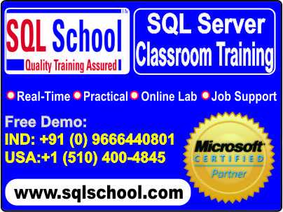 SQL Server Practical Live Classroom Training