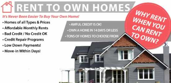 Local Rent to Own Homes Available (see our availab