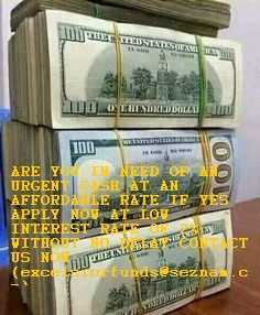 ARE YOU IN NEED OF AN URGENT CASH AT AN AFFORDABLE