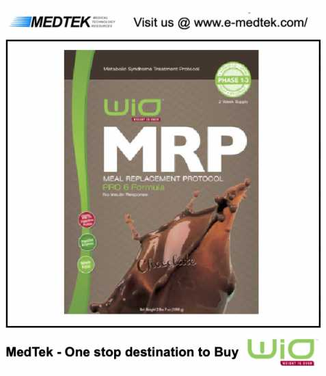 WiO MRP - Vanilla PRO 3 Phase 1-3 - Meal Replaceme