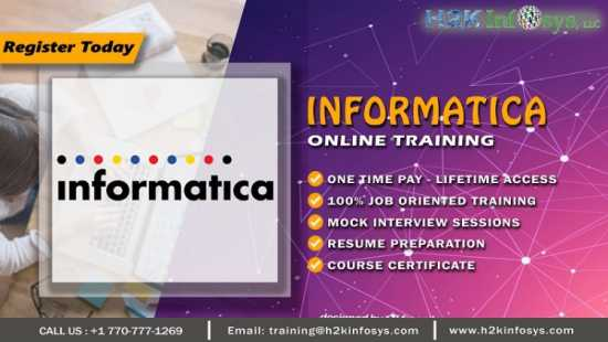 Informatica Online Training by Certified Experts