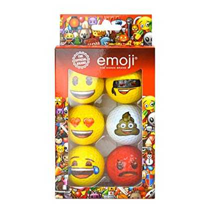 Emoji Official Novelty Fun Golf Balls – 6 Pack