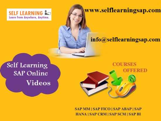 SAP all Modules video classes are Available @ Best