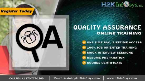 QA Online Training from Basics to Advanced