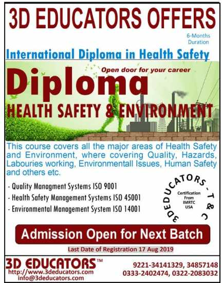 Diploma In Health Safety Environment Training with