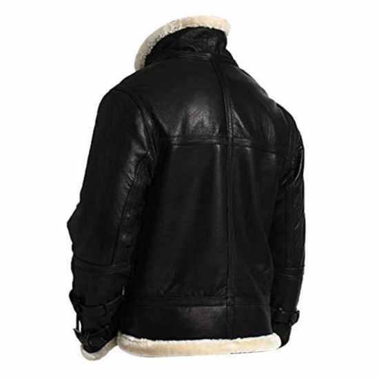 B3 Hooded Sheepskin Bomber Jacket
