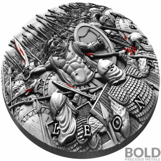 2019 Niue Great Commanders Leonidas 2 oz Silver
