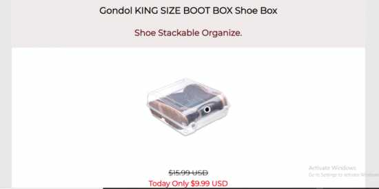 Gondol KING SIZE BOOT BOX