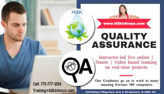 Quality Assurance Online Training with Job Suppor