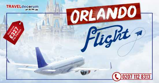 Book cheap flight to orlando from london
