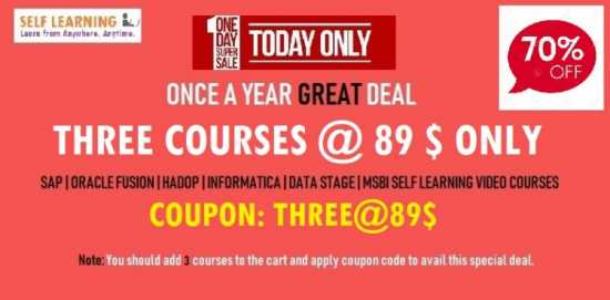 THREE SAP COURSES @89$ Only