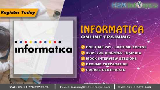 Informatica Online Training with Job Support