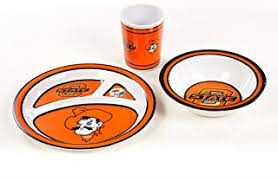NCAA Oklahoma State Cowboys Kid's 3 Pc. Dish Set