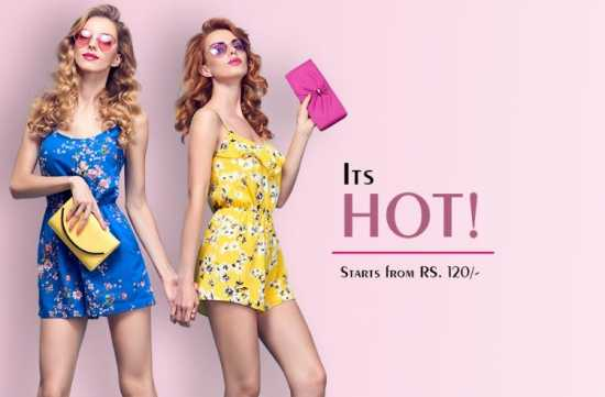 Buy women clothes starting from 99 rupees.