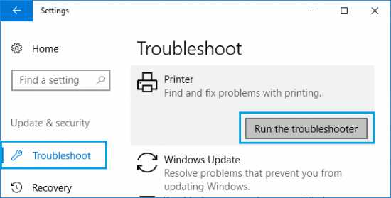How to Run Printer Troubleshooter Windows 10