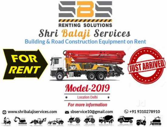 Construction Equipment Rental Services in Delhi