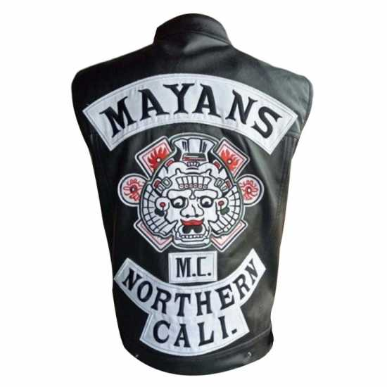 Mayans MC Black Leather Vest